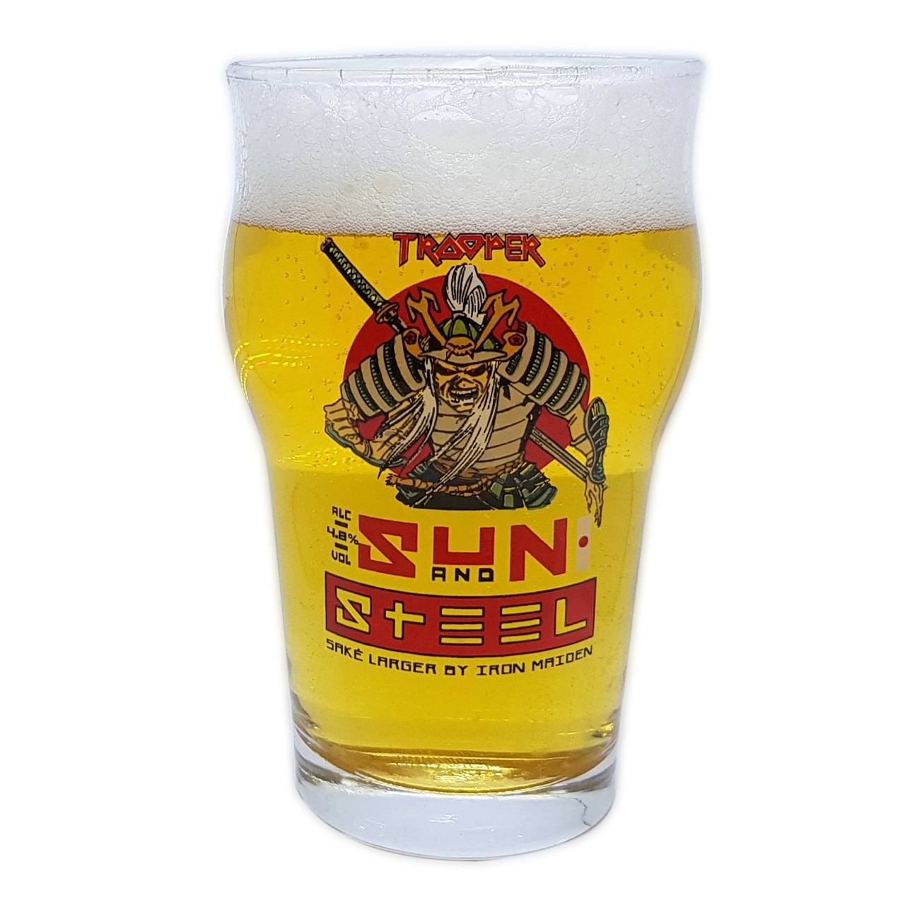 Copo Stout Iron Maiden Sun And Steel Cerveja Pint 473ml