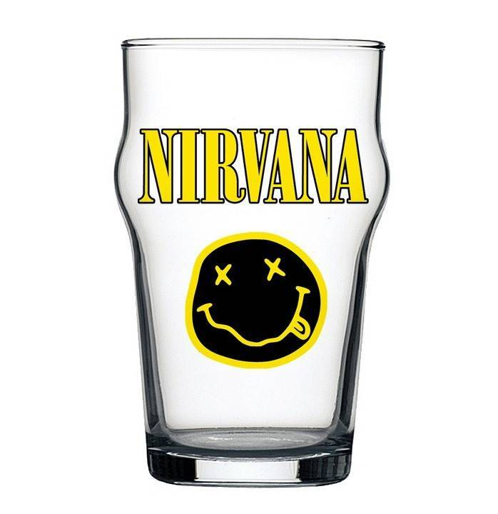 Copo Stout Nirvana Beer Cerveja Pint Rock 473ml