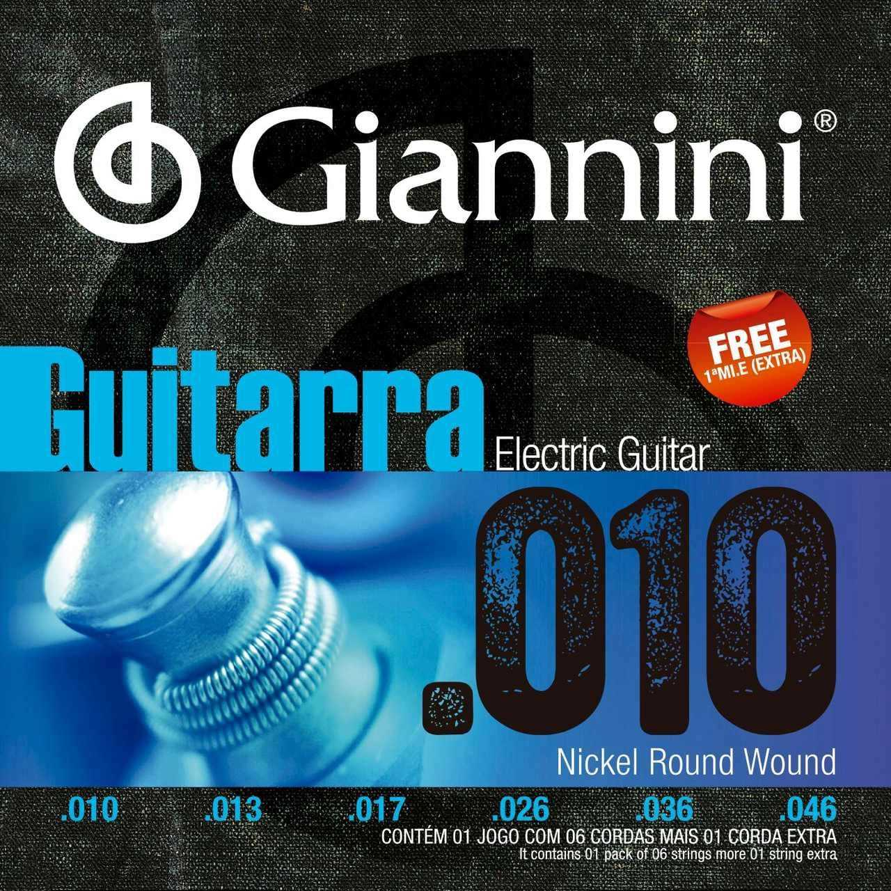 Cordas para Guitarra Giannini GEEGSTH10-HÍBRIDA .010