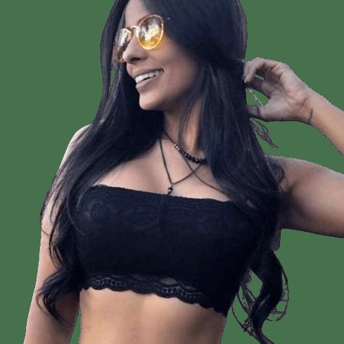 Crooped Feminino Renda Alcinha com Bojo Faixa