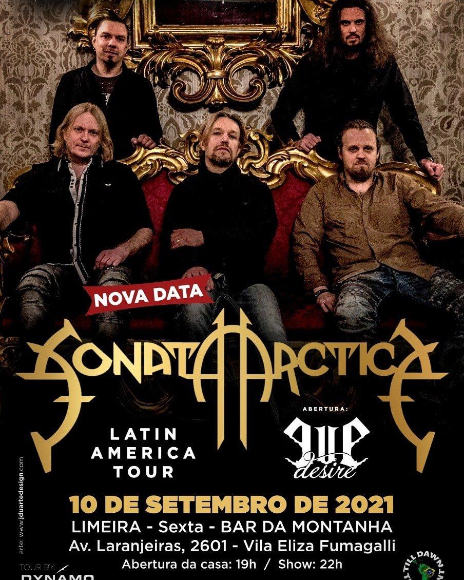 Pré Venda - Ingresso Show Sonata Arctica em Limeira em 10 de Setembro 2021