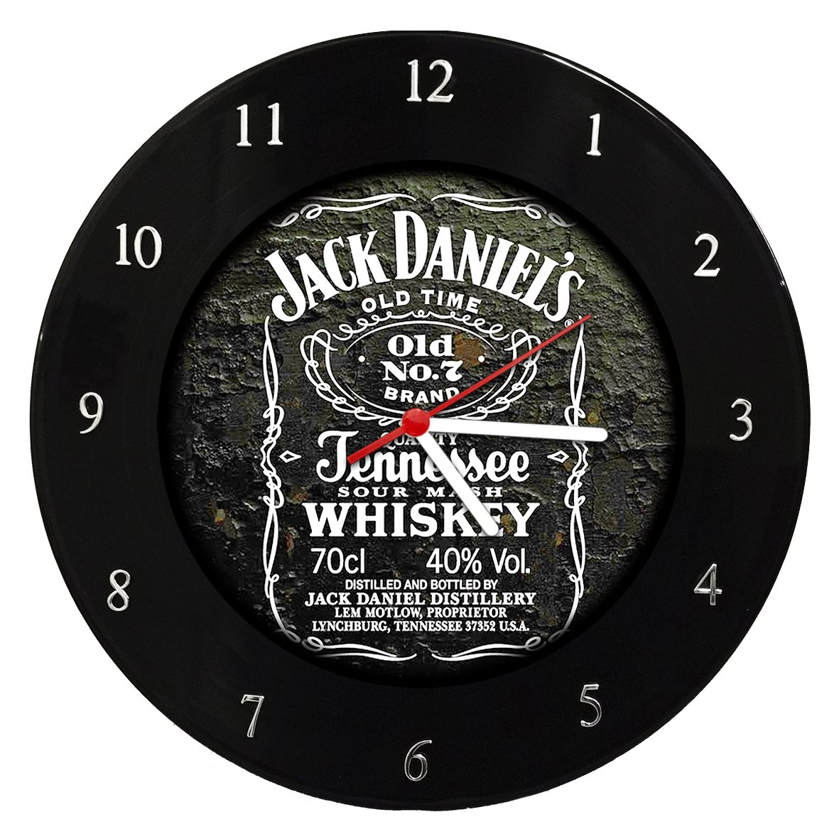 Jack Daniels - Relógio de Parede em Disco de Vinil - Mr. Rock