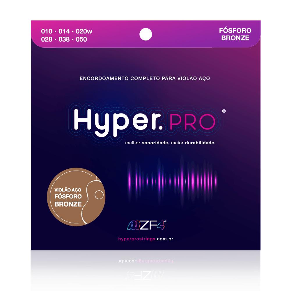 """Hyper.PRO para violão aço - fósforo bronze .010"""" (La Bella EUA)"""