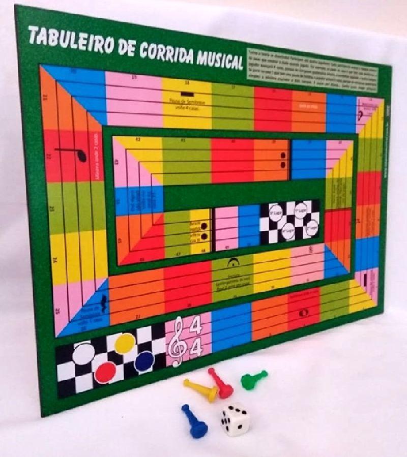 Jogo de Tabuleiro Corrida Musical