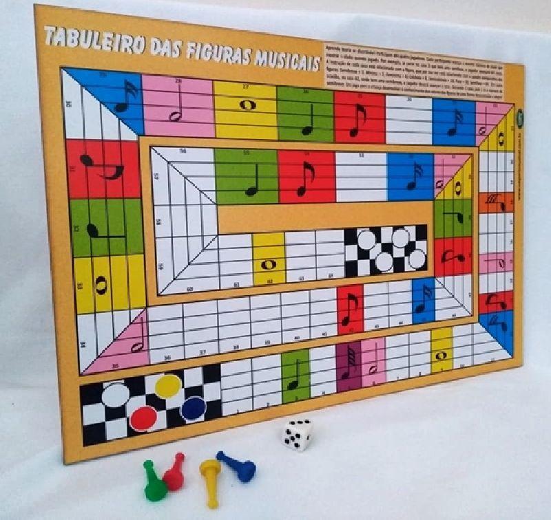 Jogo de Tabuleiro Figuras Musicais