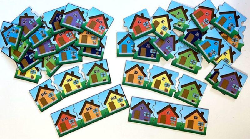 Jogo Quebra cabeça Quem são seus vizinhos (casinha)