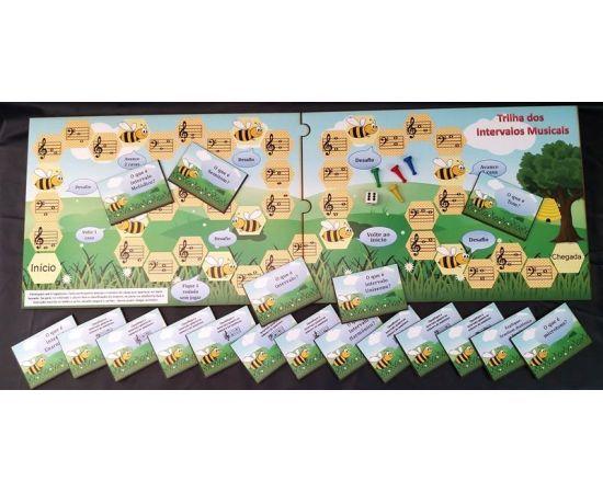 Jogo Tabuleiro Trilha dos intervalos ( abelhinha) M&D