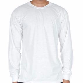 Kit 10 peças camiseta manga longa gola careca algodão