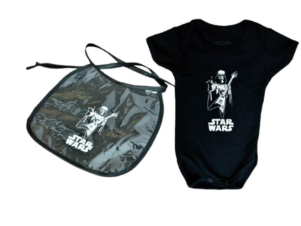 Kit body + Babador Impermeável Star Wars Darth Vader Rock
