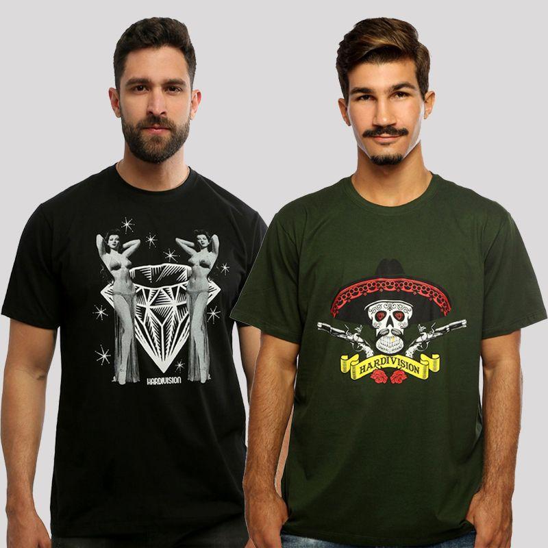 KIT Camiseta Hardivision - Compre 1, Leve 2 - Kit Hombre + Burlesque