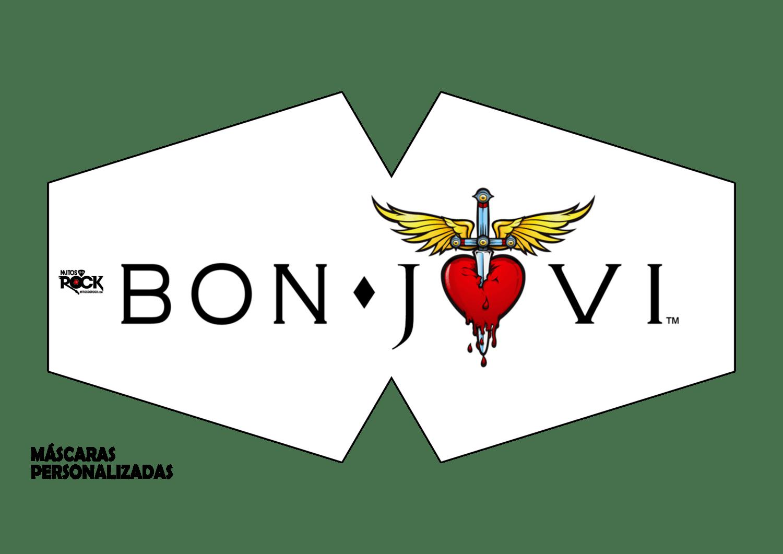 Kit Máscara de Proteção adulto juvenil infantil em tactel anatômica Bon Jovi - Kit 3 unidades