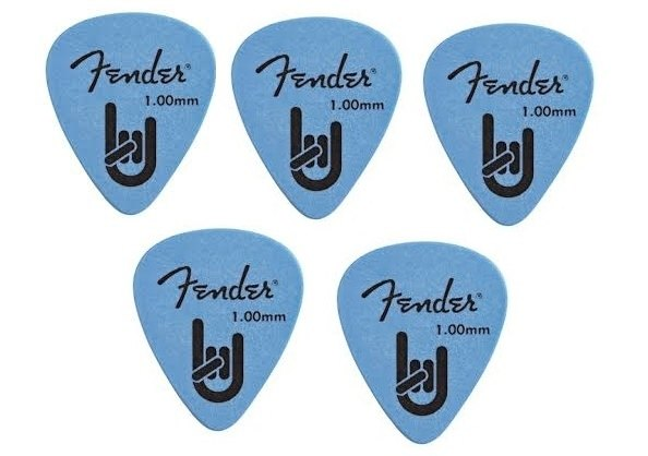 Kit Palhetas Fender Rock On 1.00mm com 05 unidades Azul