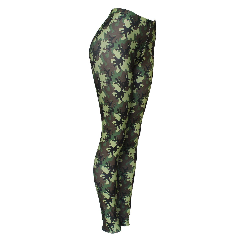 Calça Legging Feminina Camuflada Militar - Bloody Hell Wear
