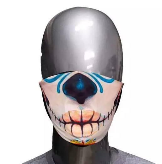 Máscara de Tecido Caveira Mexicana