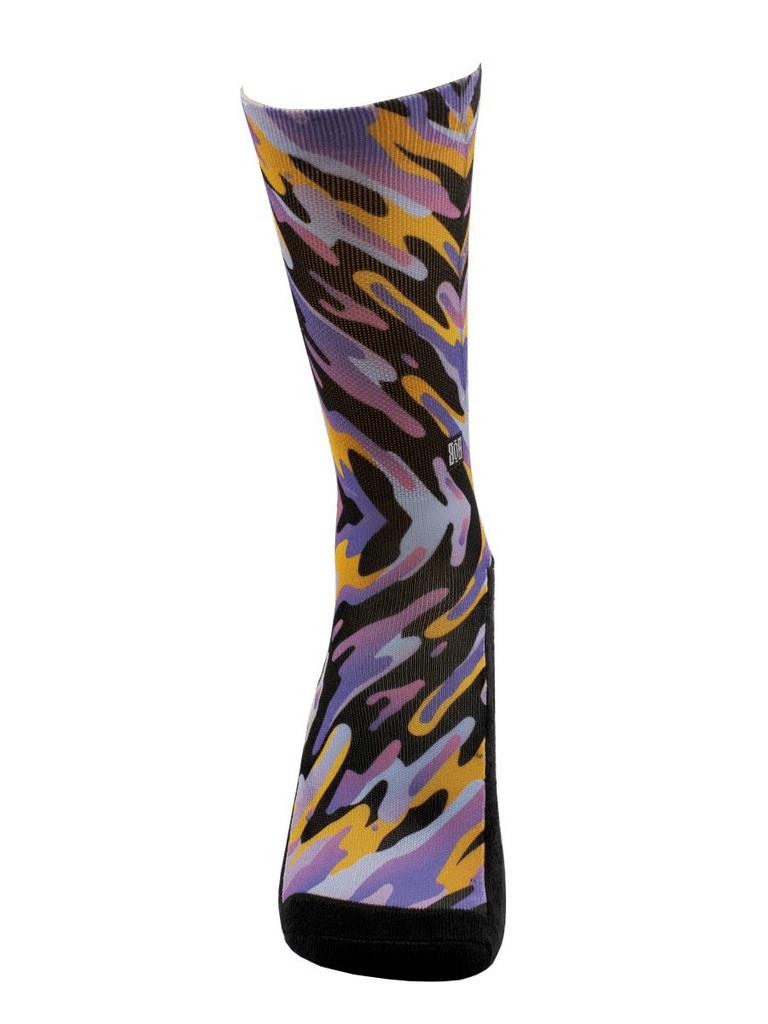 Meia Cano Alto - Abstrato Lilás