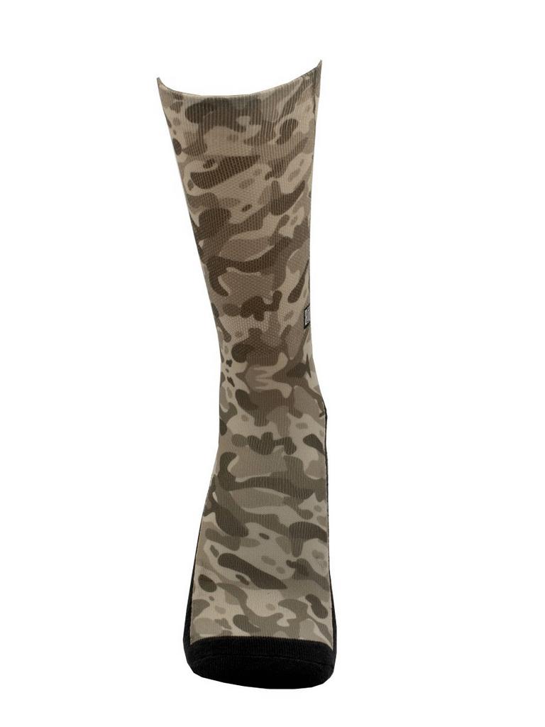 Meia Cano Alto - Camuflagem Cinza