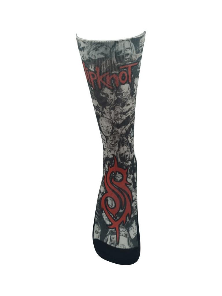 Meia Cano Alto - Slipknot - Masks
