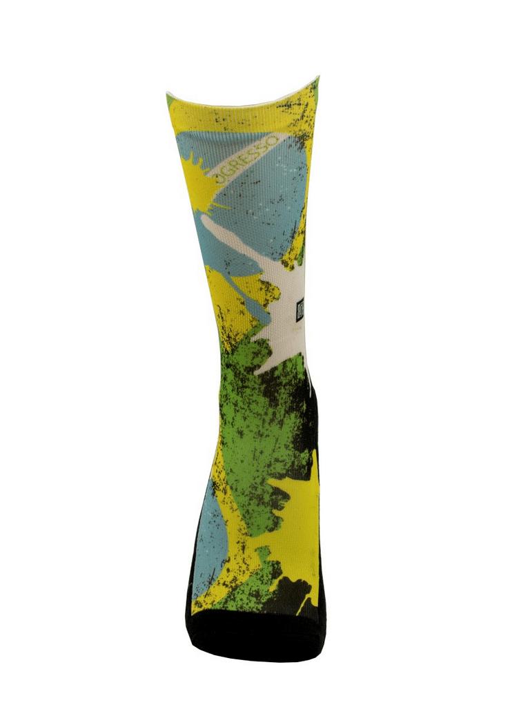 Meia Cano Alto - Flag Brasil