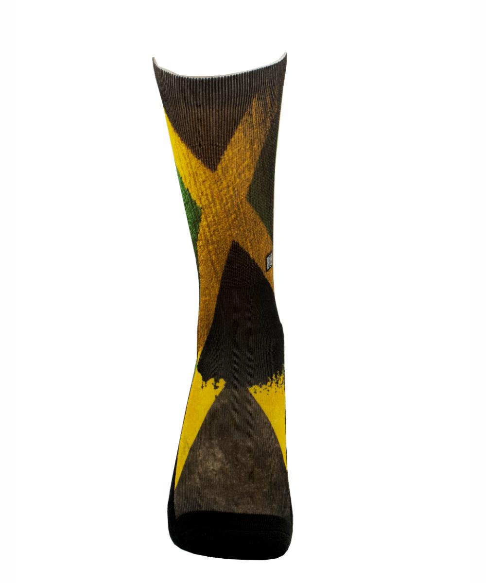 Meia Cano Alto - Flag Jamaica