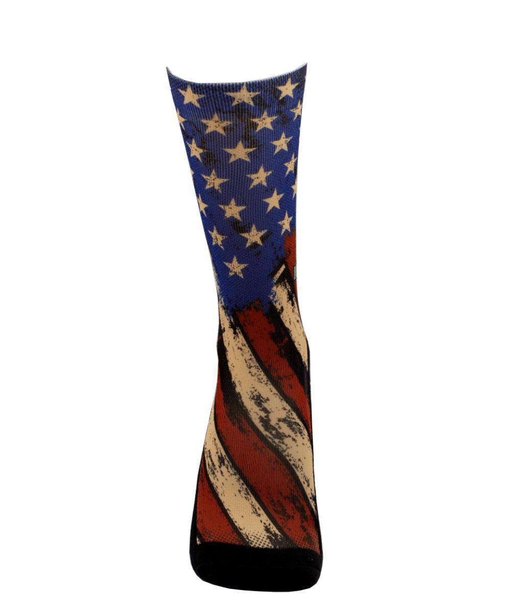 Meia Cano Alto - Flag USA