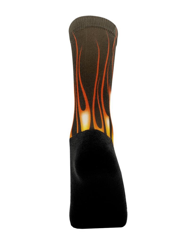 Meia Cano Alto - Flame Black - 2