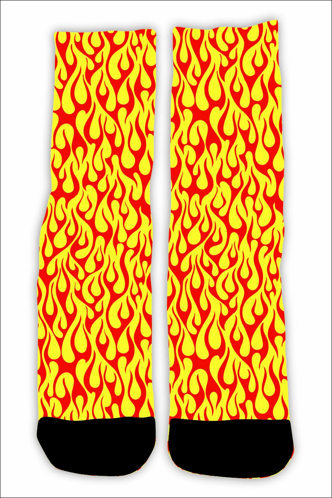 MEIA FLAME FULL PRINT YELLOW