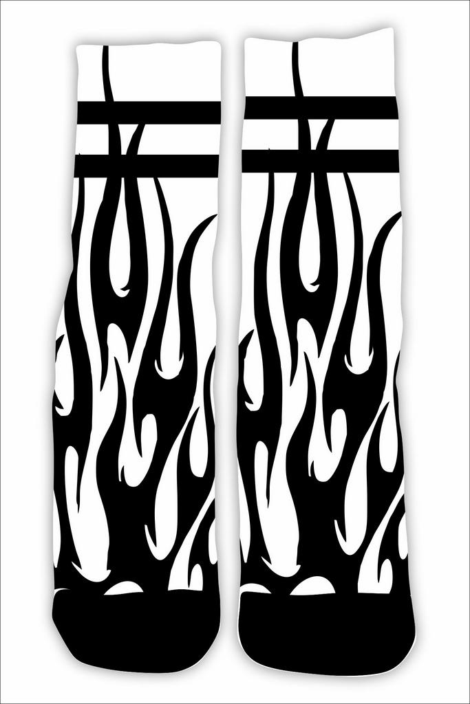 Meia Cano Alto - Flame PB