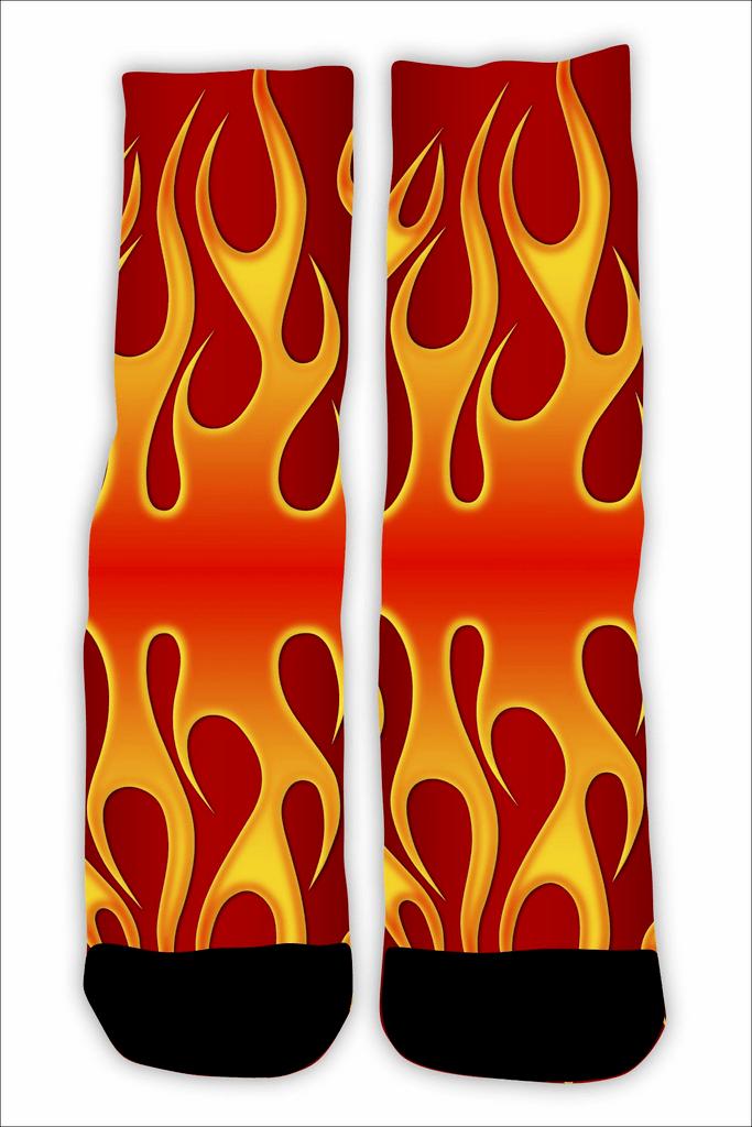 MEIA FLAME RED 1