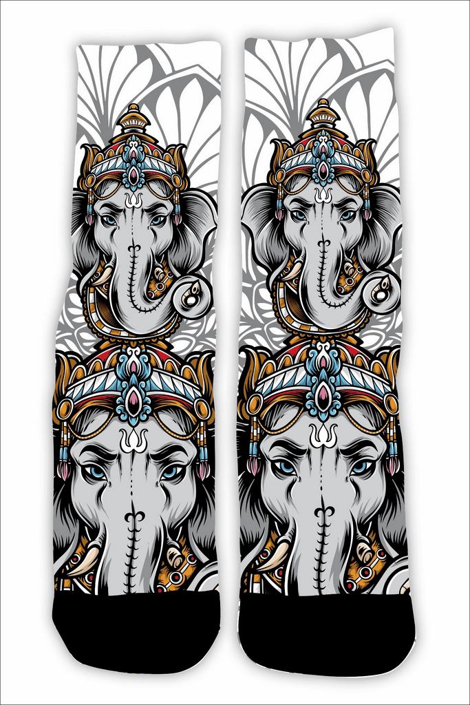 Meia Cano Alto - Lord Ganesha