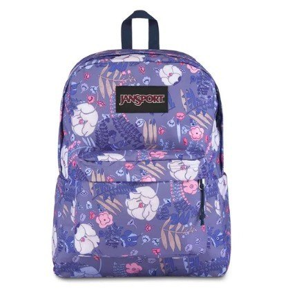 MOCHILA JANSPORT BLACK LABEL SUPERBREAK - BLUE LIANA VINES TWK861M