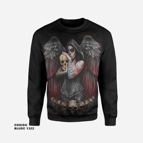 Moletom Infantil Catrina Anjo Da Morte sem capuz