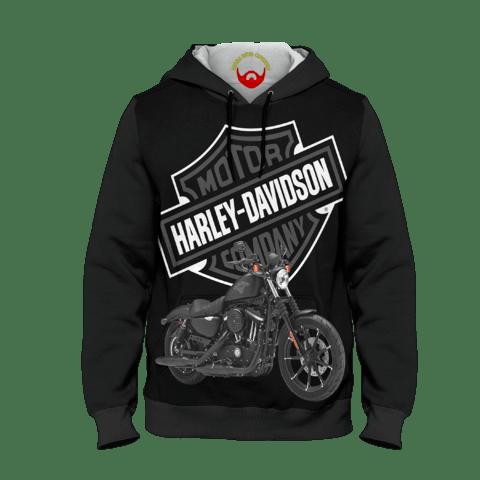 Moletom Infantil Harley Davidson com bolsos e capuz