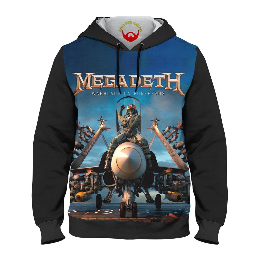 Moletom Infantil Megadeth Warheads On Foreheads