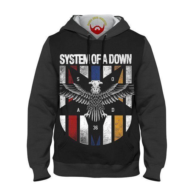 Moletom Infantil System Of a Down Eagle