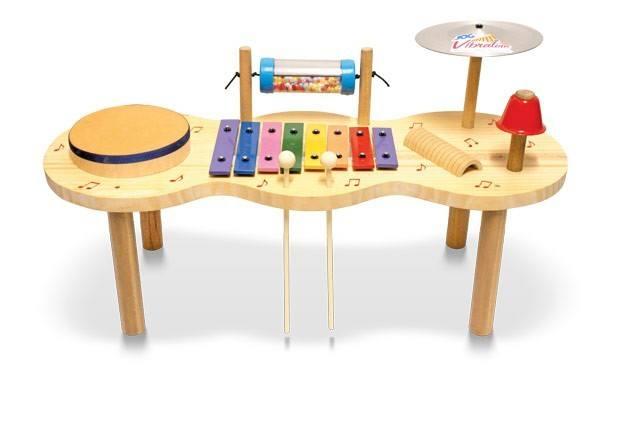 Pequena Percussão Infantil Baby Madeira - Jog Vibratom