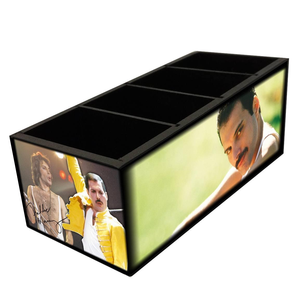 Freddie Mercury - Queen - Porta Controles em MDF - 4 Espaços - Mr. Rock