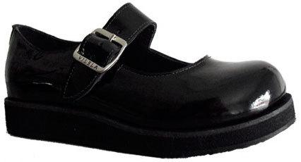 Sapato Boneca Envernizada Sola Baixa Couro Ref047