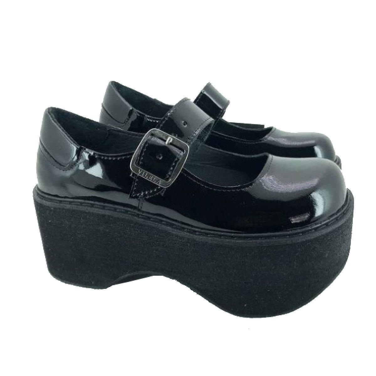 Sapato Boneca Envernizado Salto Plataforma Canoa Ref037