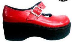 Sapato Boneca Envernizado Salto Plataforma Canoa Ref038