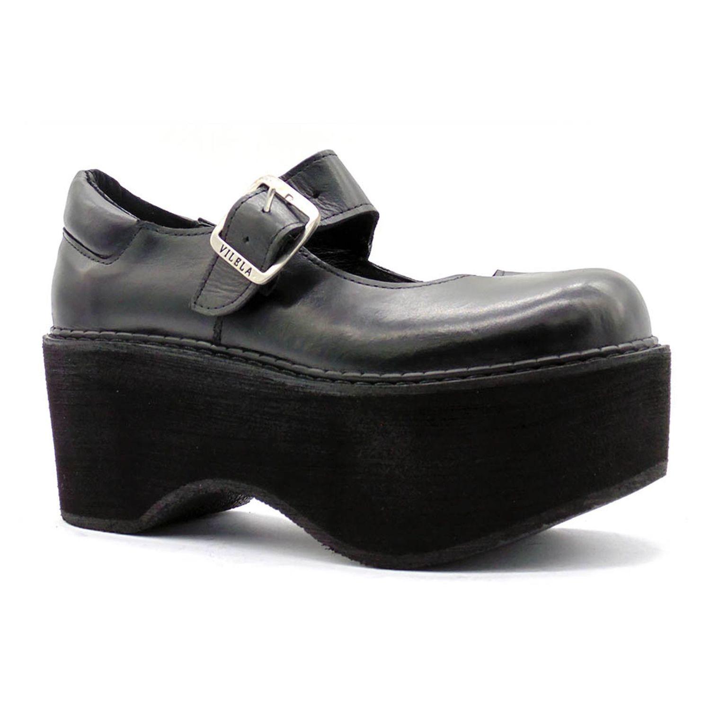 Sapato Boneca Salto Plataforma Canoa Ref036