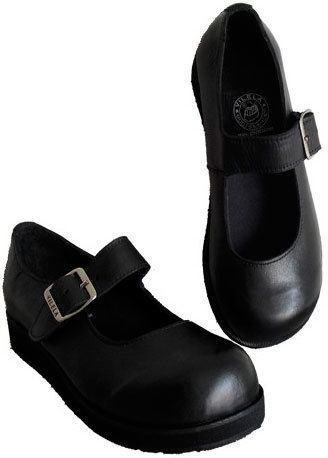 Sapato Boneca Sola Baixa Couro Ref046