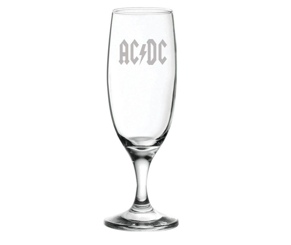 Taça em vidro com estampa jateada ACDC 180ml