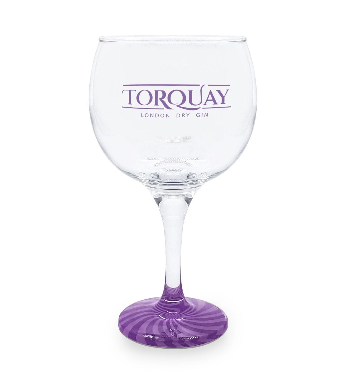 Taça Gin Vidro Torquay Azul com Base Colorida 600ml