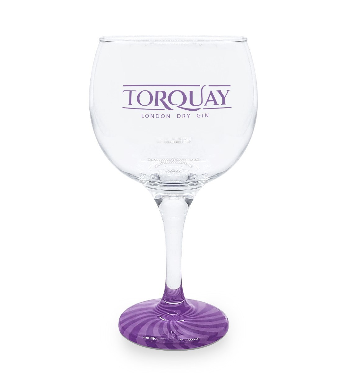 Taça Gin Vidro Torquay Azul com Base Colorida 600ml