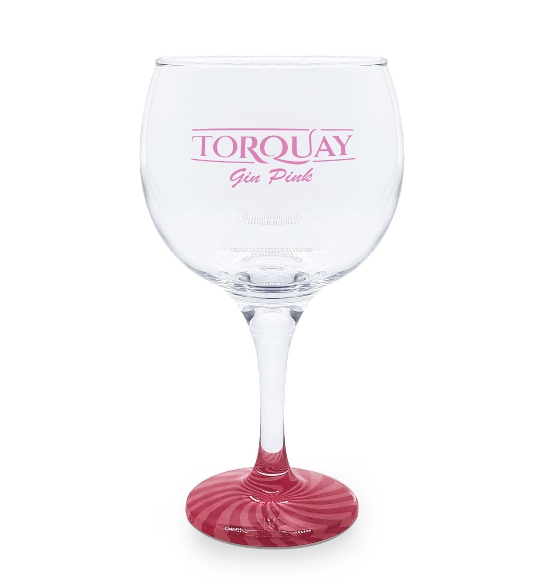 Taça Gin Vidro Torquay Pink com Base Colorida 600ml