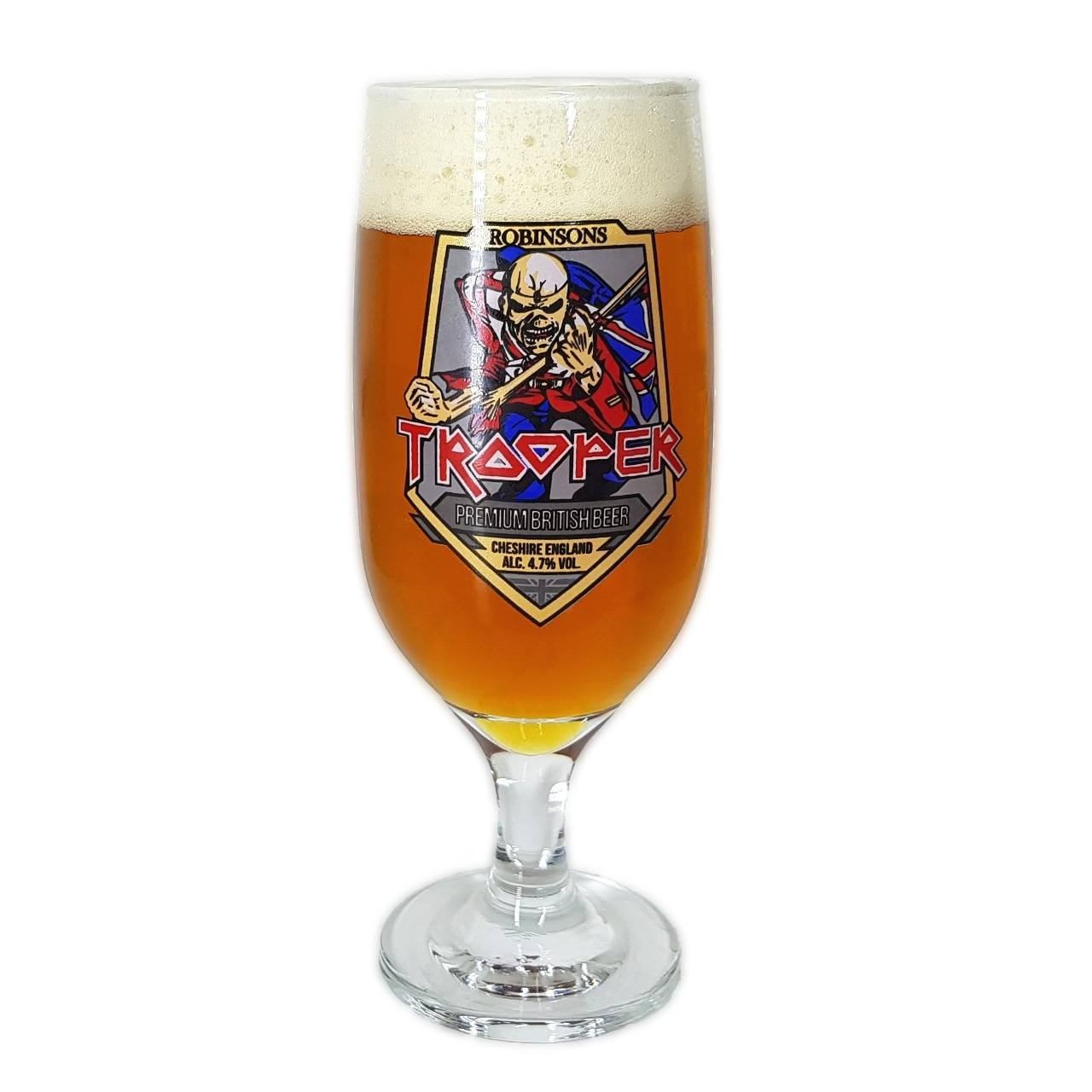 Taça Iron Maiden Trooper Beer Cerveja 300ml