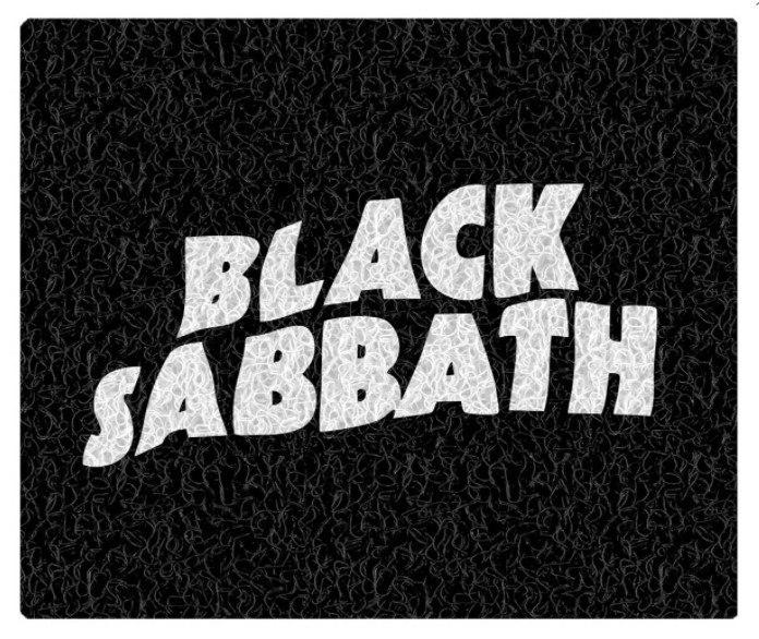 Tapete Capacho Decorativo Black Sabbath