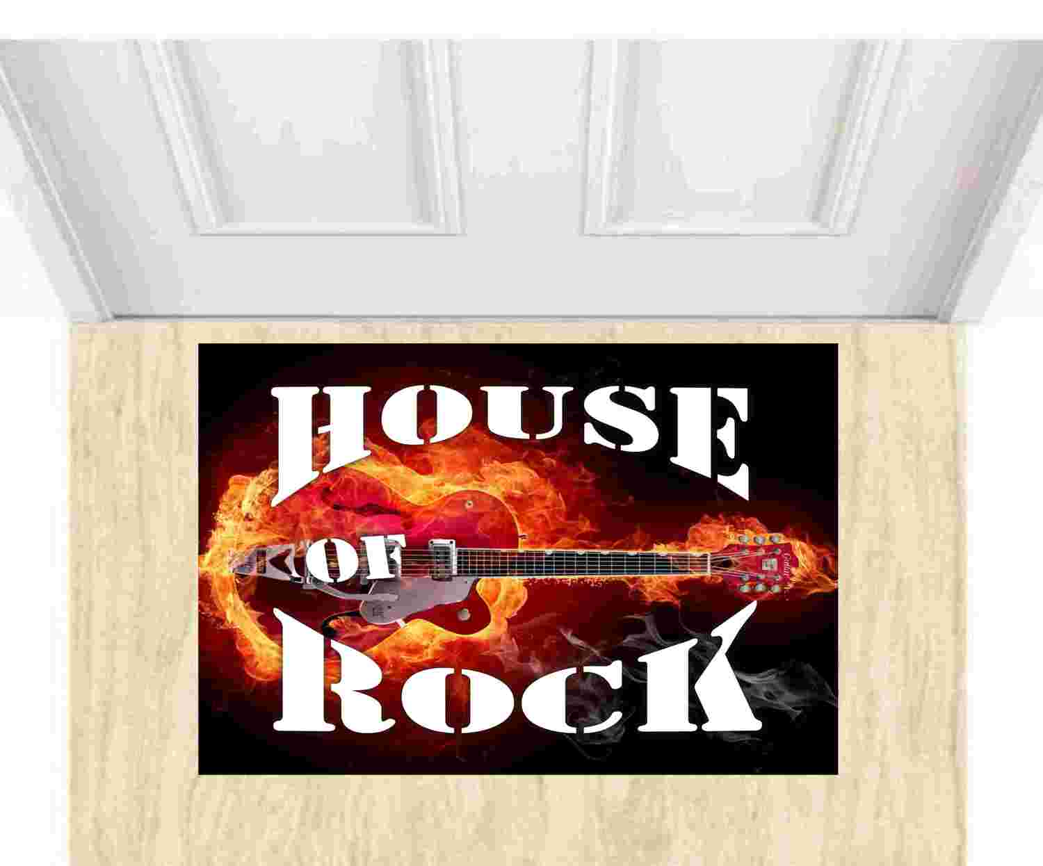 Tapete Capacho Decorativo house of rock