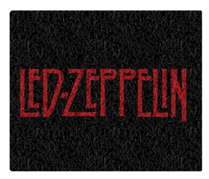 Tapete Capacho Decorativo Led Zeppelin