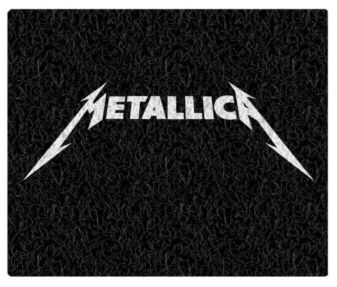 Tapete Capacho Decorativo Metallica
